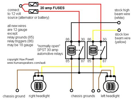 Relay Headlight Wiring Diagram by Simple Headlight Relay Wiring
