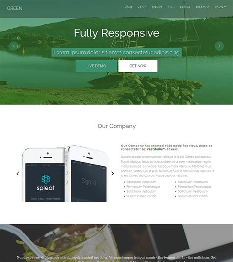 Free Html Templates Green Free One Page Html Bootstrap Template Bootstraptaste