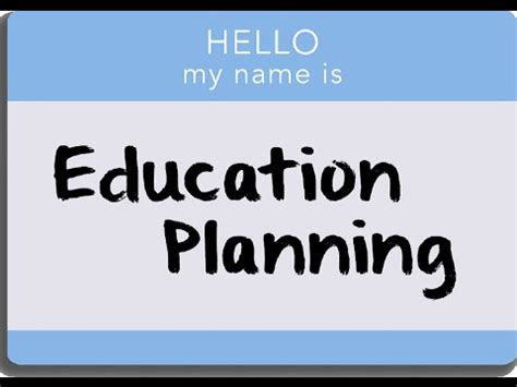 education planning youtube