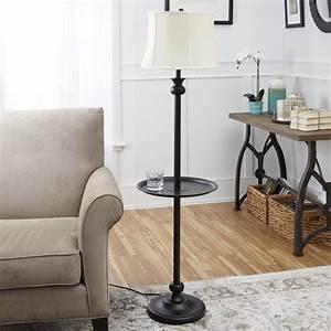 Store sku 1000040903 7275 in bronze floor lamp with white for Better homes and garden floor lamp combo antique nickel