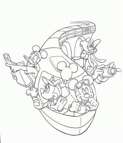 Coloring Disneyland Pages Disney Walt Magic Kingdom