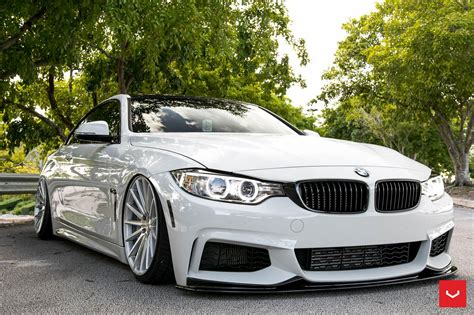 White Bmw Rims by Alpine White Bmw 435i With Vossen Vfs2 Wheels