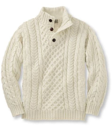 fisherman s sweater heritage sweater fisherman 39 s button mock