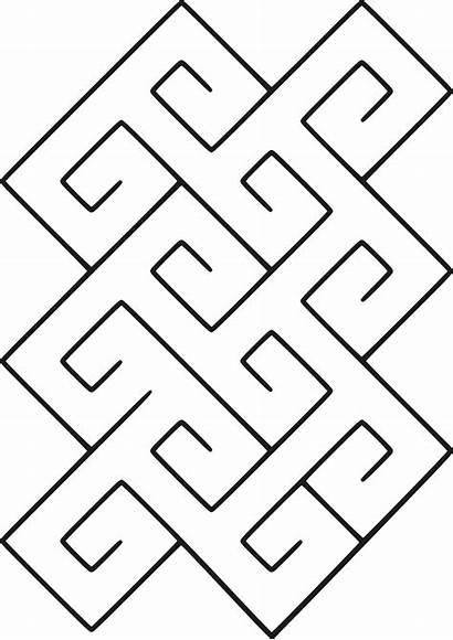 Celtic Pattern Spiral Svg Tile Maze Chevrons