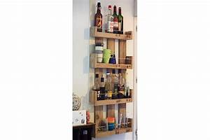 etageres murales de cuisine en bois de palettes la vie With etagere de cuisine en bois