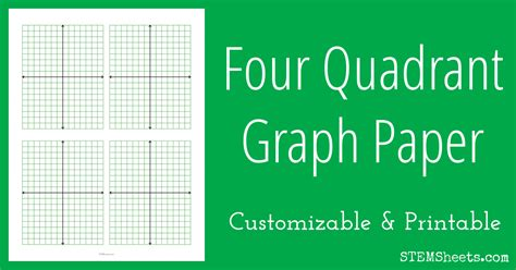 quadrant graph paper stem sheets