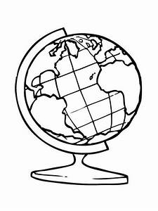 Dessin Globe Terrestre : globe coloring pages to download and print for free ~ Melissatoandfro.com Idées de Décoration
