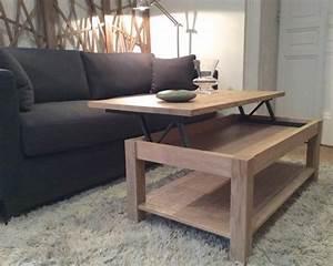Table Basse Relevable Lisa Coup De Soleil Mobilier