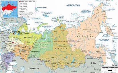 Russia Map Maps Political Ezilon Europe Detailed