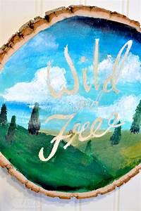 Wood, Slice, Art, Acrylic, Painting