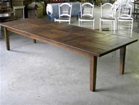 12' Foot Dining Table With Square Inlay