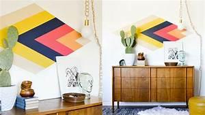 Diy Deco Murale : une d co murale g om trique diy shake my blog ~ Dode.kayakingforconservation.com Idées de Décoration