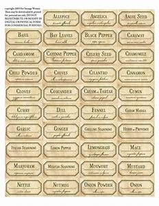 Etiketten Für Gläser : gew rz etiketten diy pinterest vorlagen vintage etiketten und druckvorlagen ~ One.caynefoto.club Haus und Dekorationen