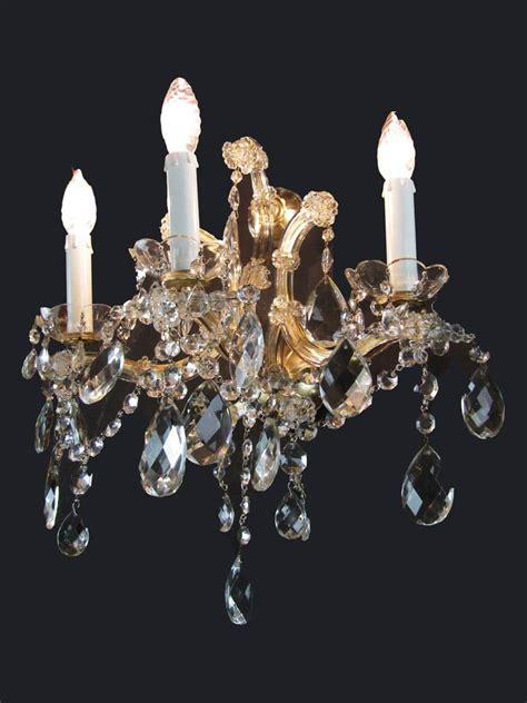 applique in cristallo quattro appliques teresa in cristallo di bohemia