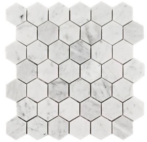 2 Hexagon Marble Floor Tile by 11 75sf Carrara Venato 2 Quot Hexagon Honed Mosaic Tile