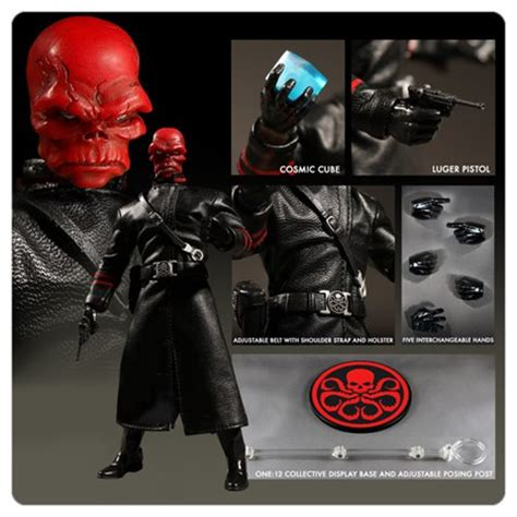 captain america red skull  collective action figure