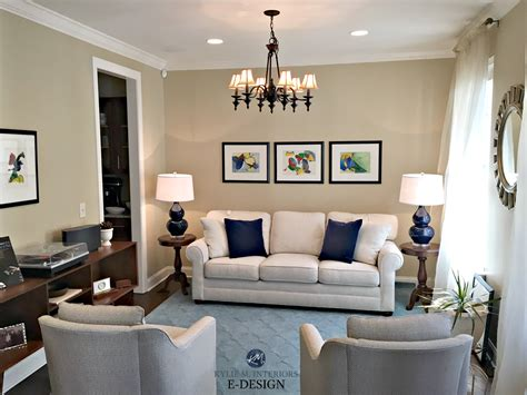 home staging  living room  balance navy blue