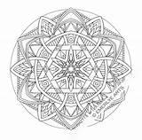 Coloring Mandala Winter Printable Popular sketch template