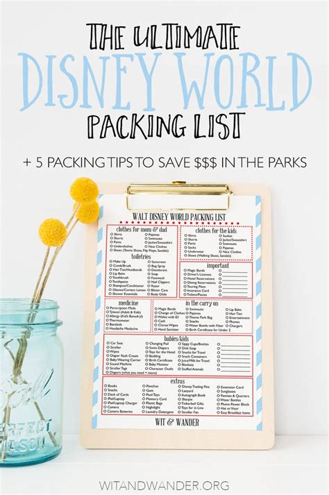 25 ideas about disney world packing on
