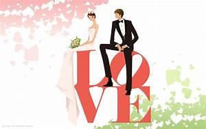 wedding day love cute couple bride groom vector hd ...