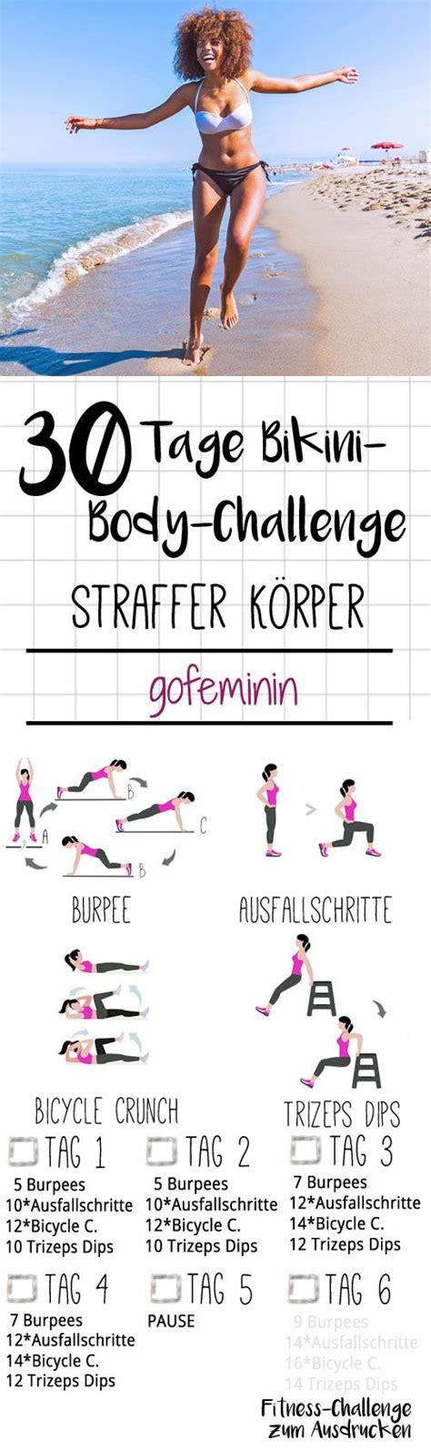 mach dich straff die 30 tage challenge exercise challenge sports