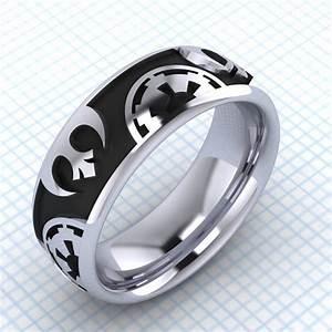 Star wars inspired wedding ring rebel alliance for Star wars wedding rings