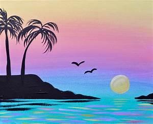 New, Video, U0026, 39, Sunset, Cove, U0026, 39, Easy, Acrylic, Tutorial, For
