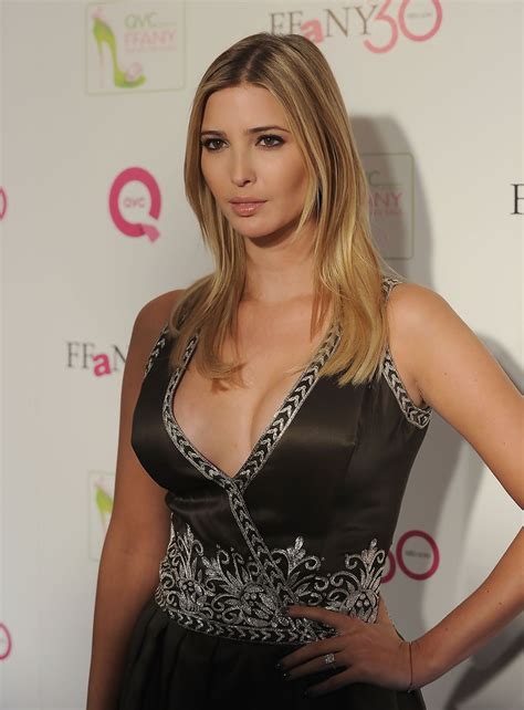 ivanka trump breast cleavage shoes qvc ffany presents education benefit donald cancer research marie sexiest arrivals daughter dress zimbio older