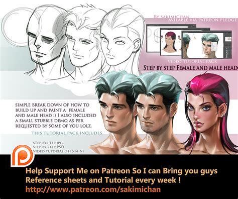 view head step  step tutorial pack  sakimichan