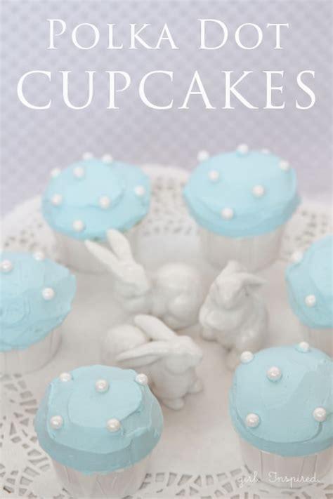 polka dot cupcakes  girl inspired