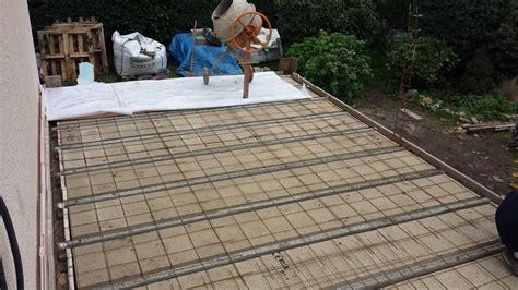 Gravier Pour Terrasse Beton by Comment R 233 Aliser Une Fondation Et Une Terrasse En B 233 Ton