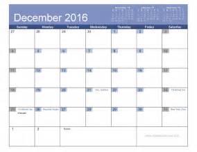 december 2016 calendar with holidays yearly calendar template
