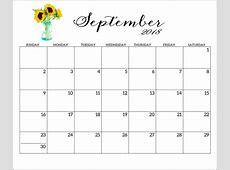 2018 Calendar Pdf Landscape Printable Coloring Page for Kids