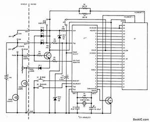 12 V Auto Clock - Basic Circuit - Circuit Diagram