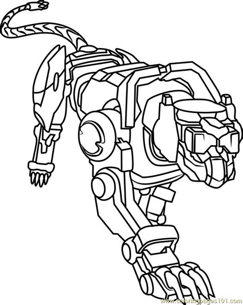 blue lion coloring page  voltron legendary defender