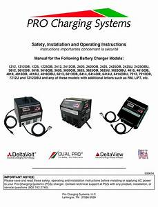 Pro Charging System 1212 Safety  Installation And