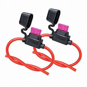 Zookoto Inline Fuse Holder  16 Awg Gauge Copper Wire Car
