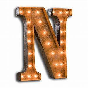 rusty 24 inch letter n marquee light by vintage marquee lights With marquee letter n