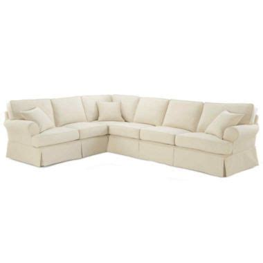 jcpenney slipcover sectional sofa friday twill 4 pc slipcovered sectional found at