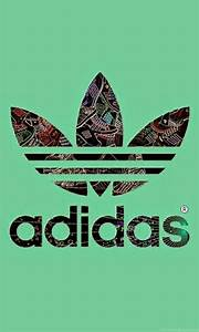 Adidas Logo Green Backgrounds iPhone 6 Plus HD Wallpapers ...