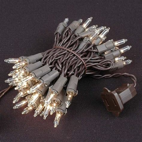 clear wire christmas lights clear christmas mini lights set 50 light brown wire 11