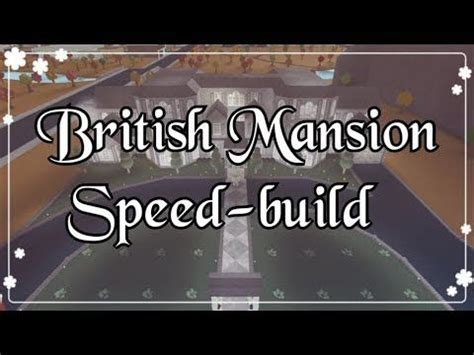 bloxburg british mansion speed build exterior youtube   mansions modern mansion