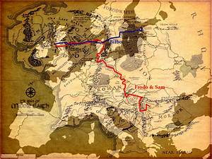 Mapping Europe And The Usa Over Tolkiens U0026 39  Middle Earth
