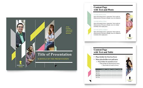 personal finance powerpoint  template design