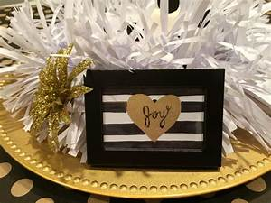 Christmas Table Centerpiece - Black, Gold, and White