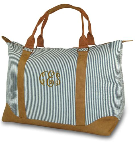 monogrammed weekend travel bags personalized