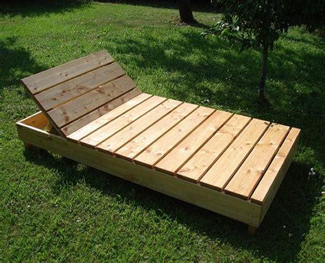 Gartenliegen Holz Gartenliege Zum Selber Bauen