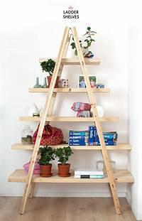 fine diy ladder bookshelf DIY LADDER SHELVES | a pair & a spare | Bloglovin'