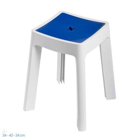 Sgabello Contenitore by Sgabello Contenitore Bianco E In Resina Per Doccia Box
