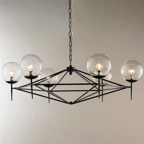 Modern Style Chandeliers by Modern Pyramid Glass Globes Chandelier Chandeliers